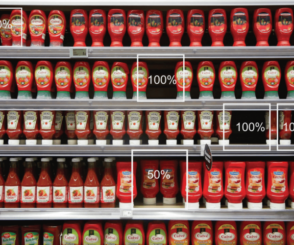 EasyFlow out-of-shelf analytics provide near real time information on product stock levels and can alert employees when restocking is required.