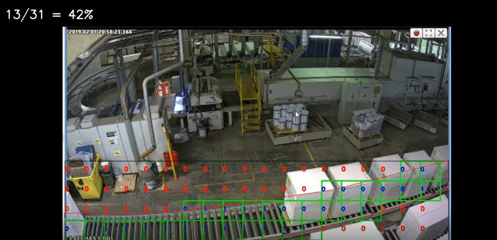 EasyFlow platform monitors item flow on the roller table